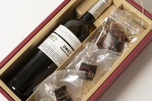 白ワイン(オーガニック)&Otisのサラミ2種類と無添加レーズンのセット